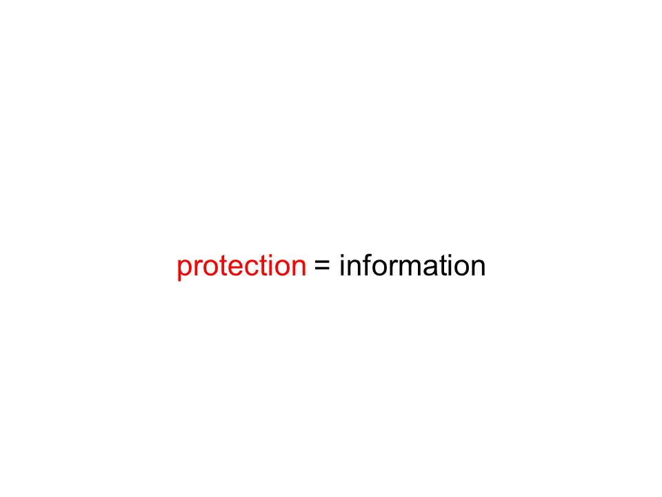protection = information
