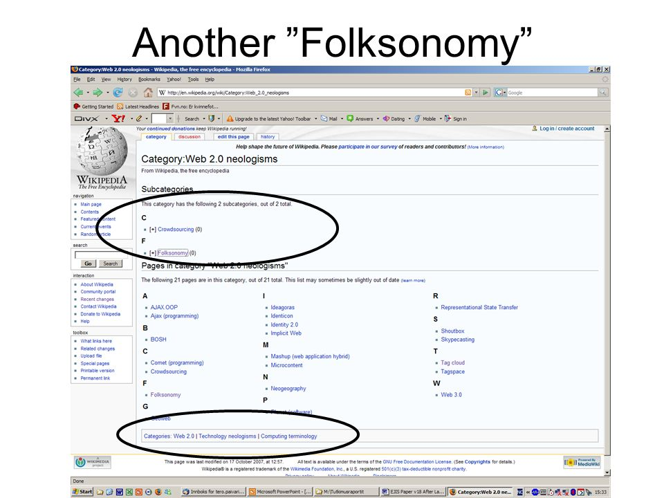 Another Folksonomy