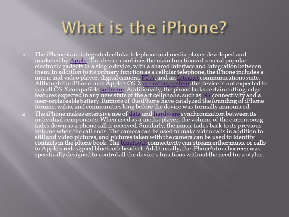 What is the iPhone