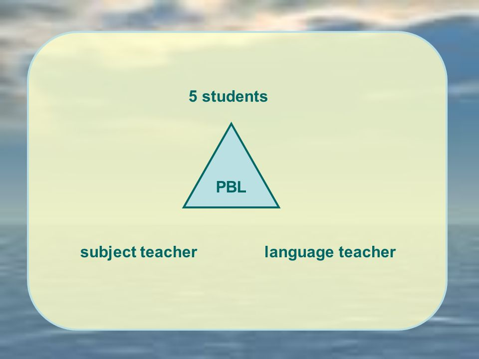 PBL subject teacherlanguage teacher 5 students