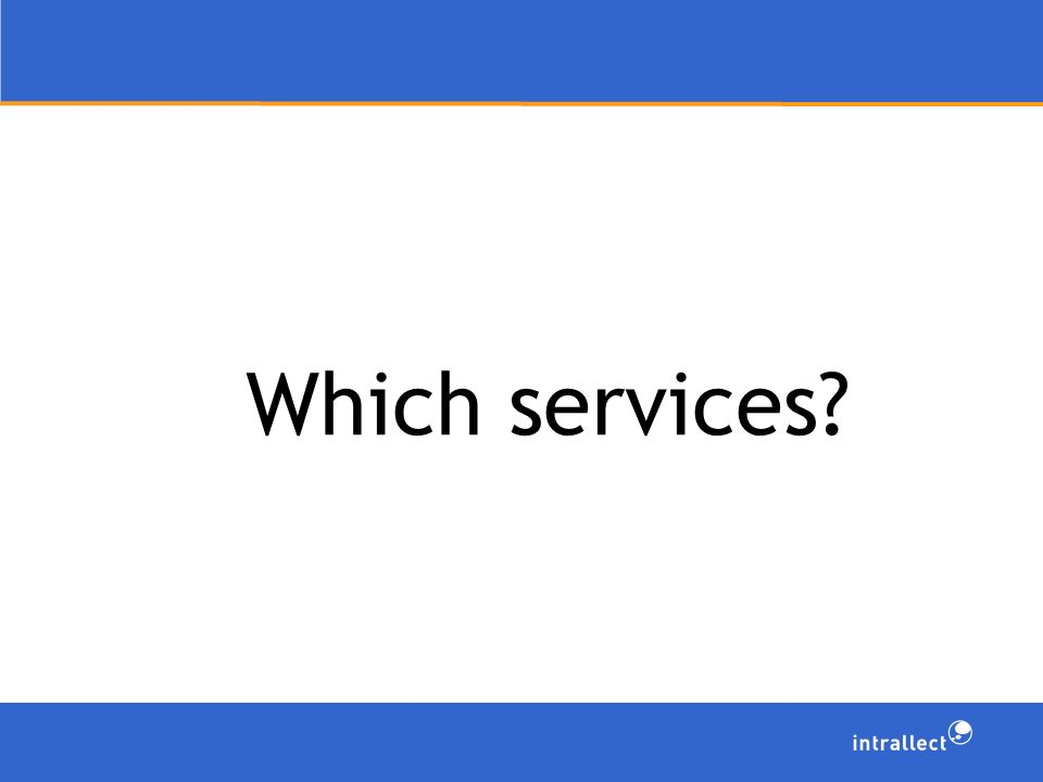 Which services