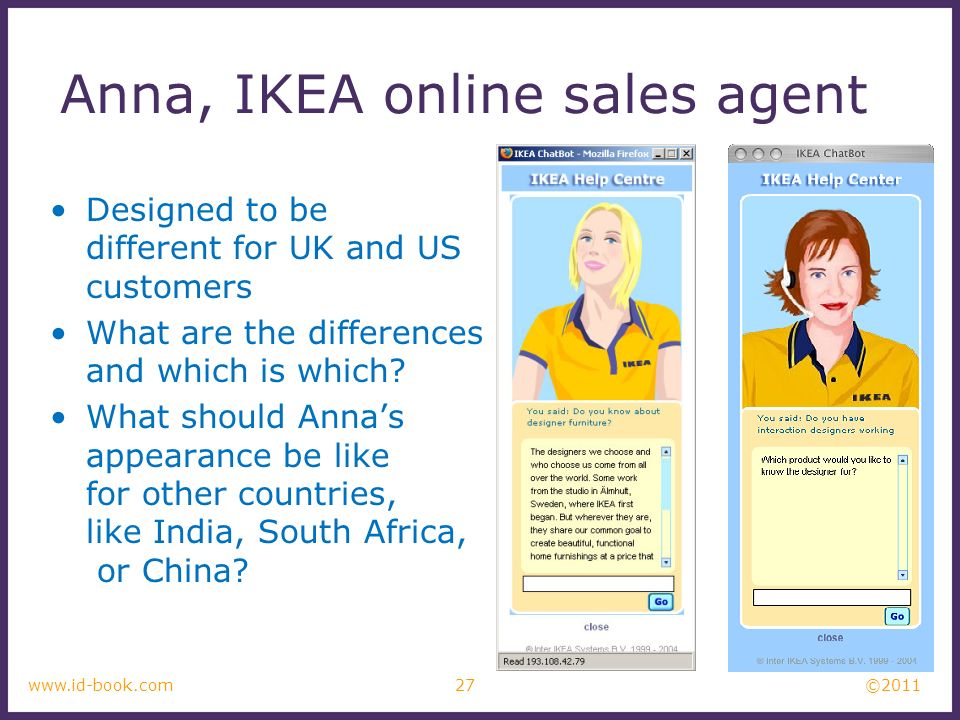©2011 27www.id-book.com Designed to be different for UK and US customers What are the differences and which is which.