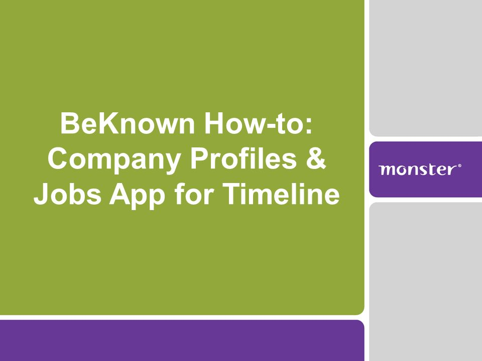 BeKnown How-to: Company Profiles & Jobs App for Timeline