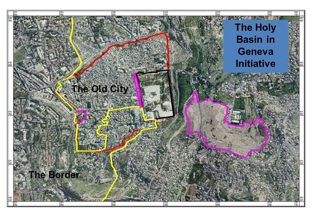 The Holy Basin in Geneva Initiative The Old City The Border