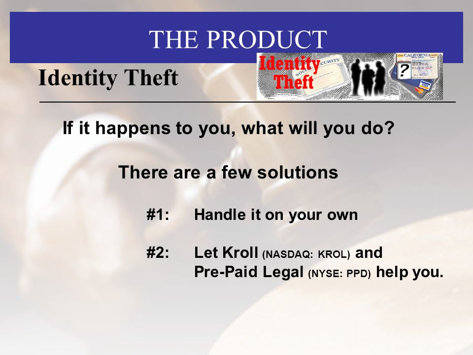Identity Theft If it happens to you, what will you do.