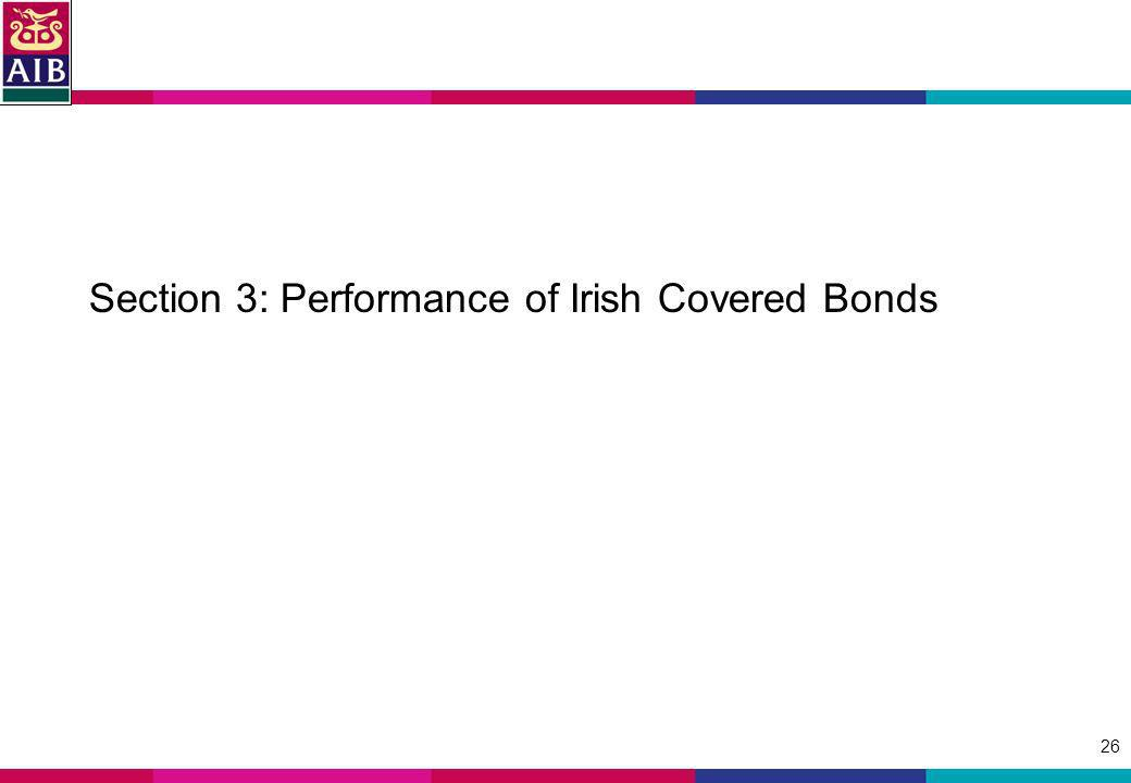 26 Section 3: Performance of Irish Covered Bonds