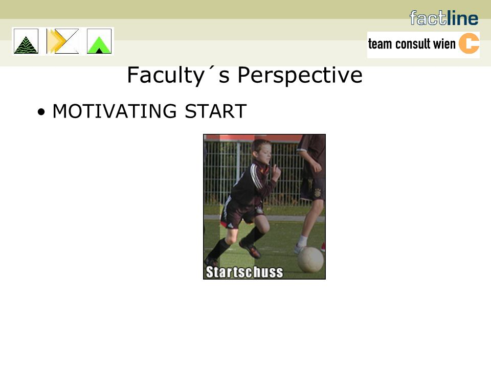 Faculty´s Perspective MOTIVATING START