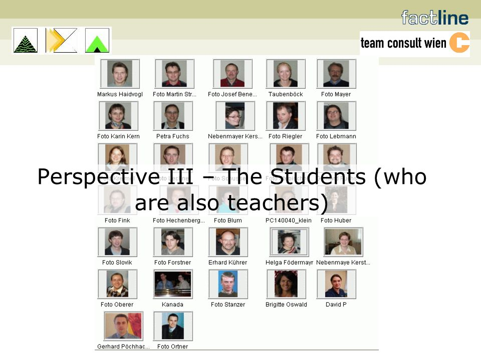 Perspective III – The Students (who are also teachers)