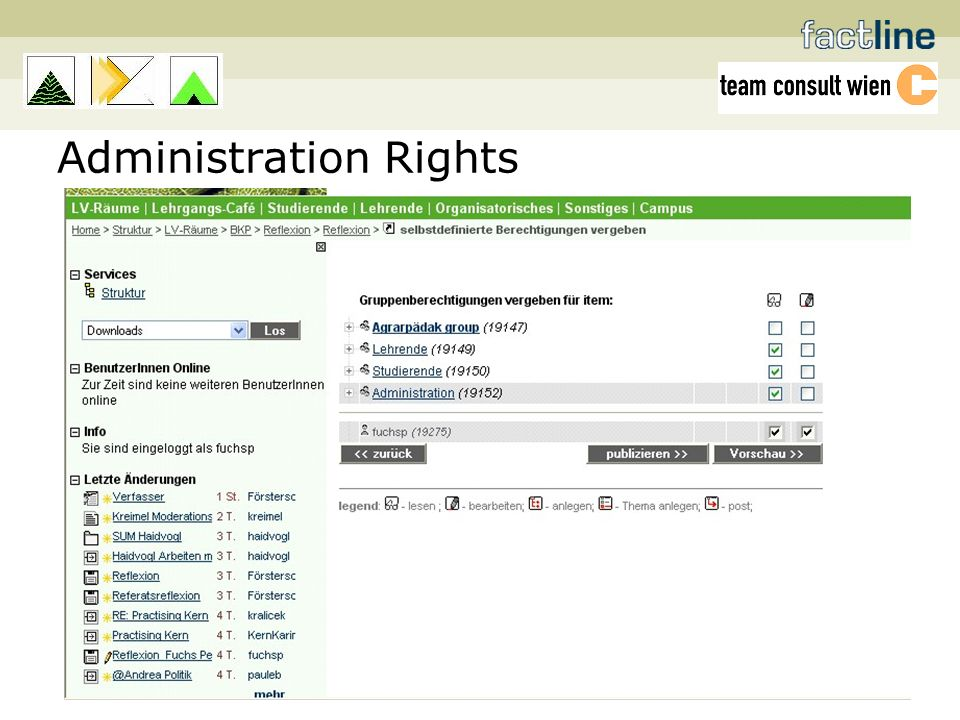 Administration Rights