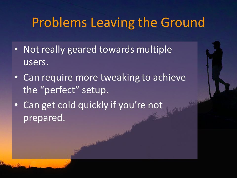Problems Leaving the Ground Not really geared towards multiple users.