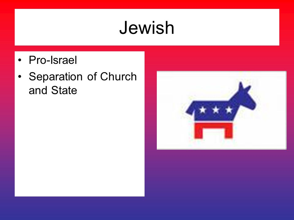 Jewish Pro-Israel Separation of Church and State