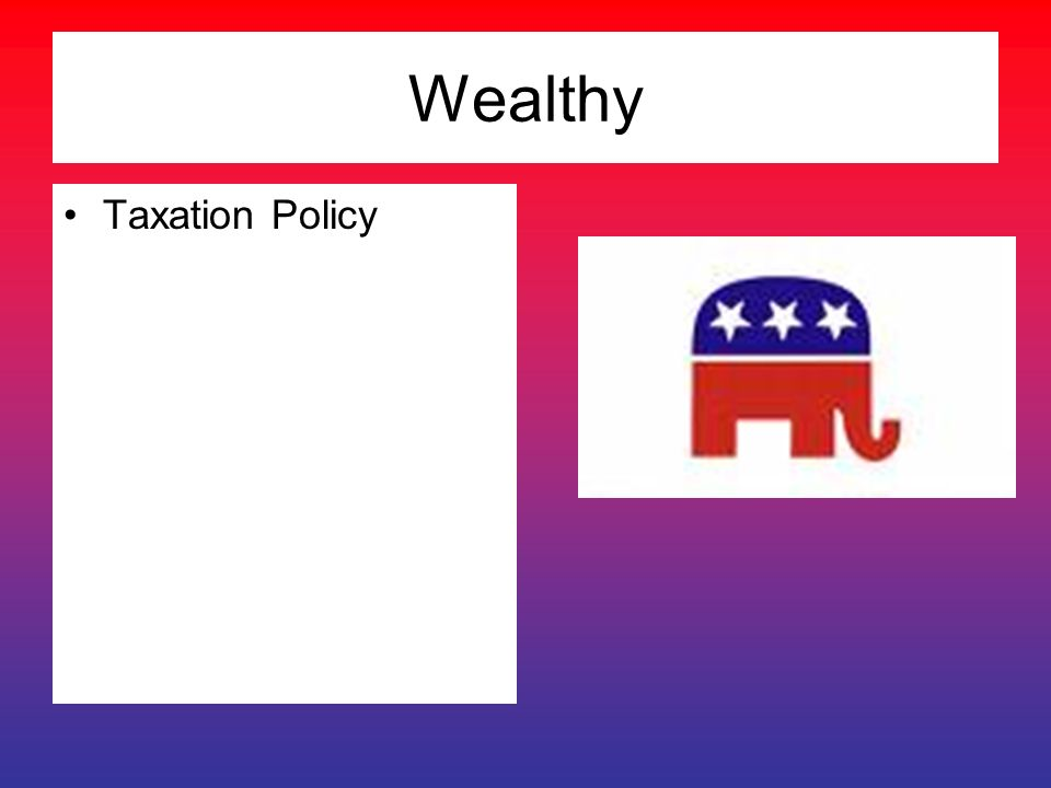 Wealthy Taxation Policy