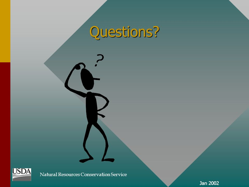Natural Resources Conservation Service Jan 2002 Questions