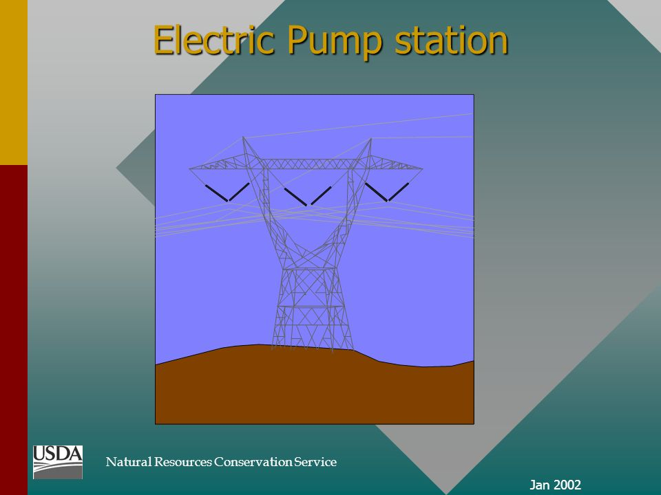 Natural Resources Conservation Service Jan 2002 Electric Pump station