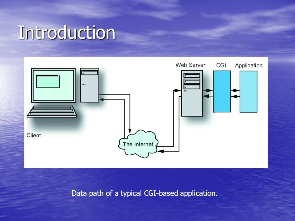 Introduction Data path of a typical CGI-based application.