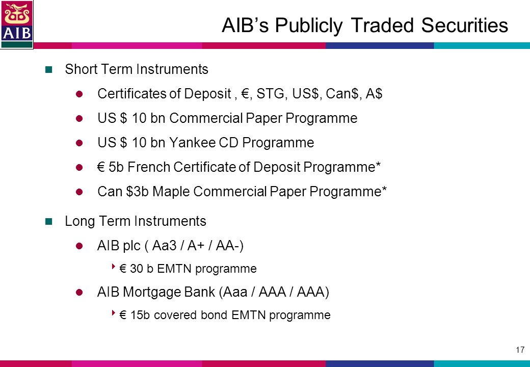 1 Allied Irish Banks Plc Introduction To Aib Mortgage Bank