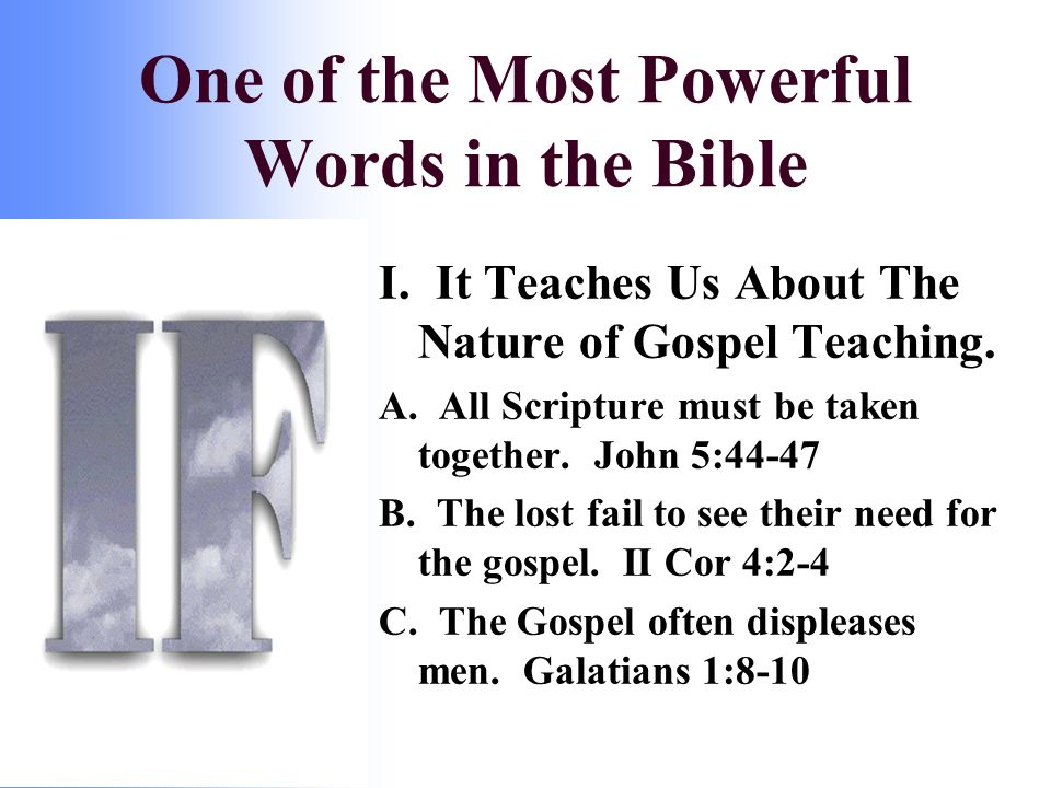I. It Teaches Us About The Nature of Gospel Teaching.