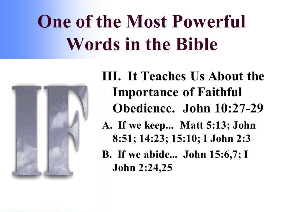 III. It Teaches Us About the Importance of Faithful Obedience.