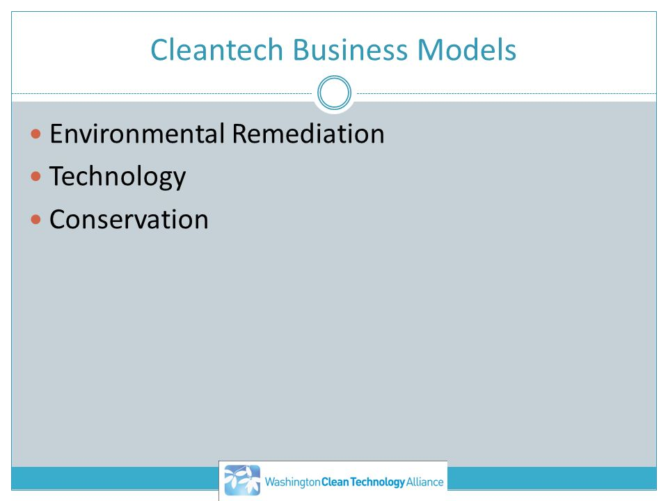 Cleantech Business Models Environmental Remediation Technology Conservation