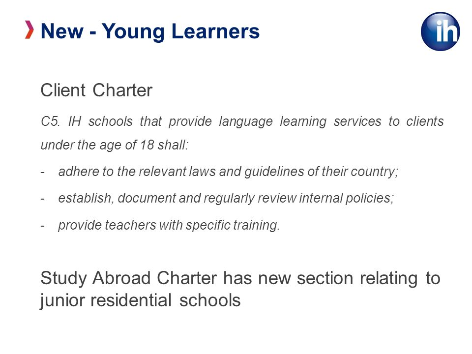 New - Young Learners Client Charter C5.