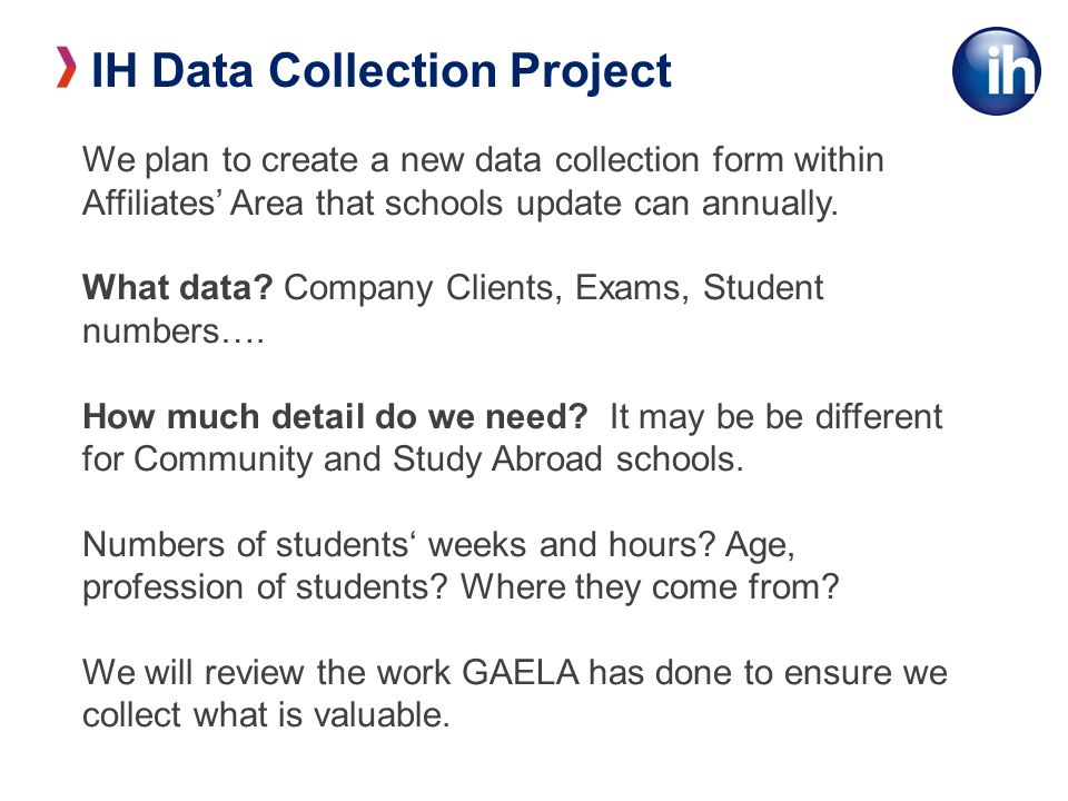 We plan to create a new data collection form within Affiliates Area that schools update can annually.