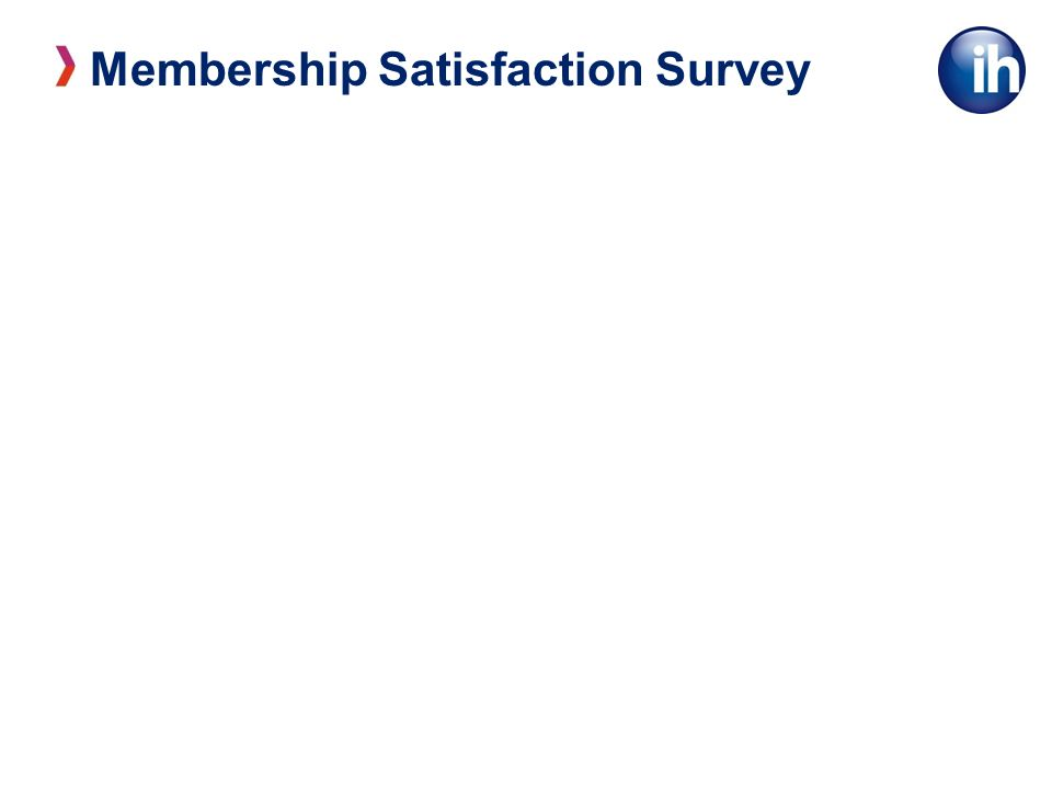 Membership Satisfaction Survey We are delighted with what we get from IH.