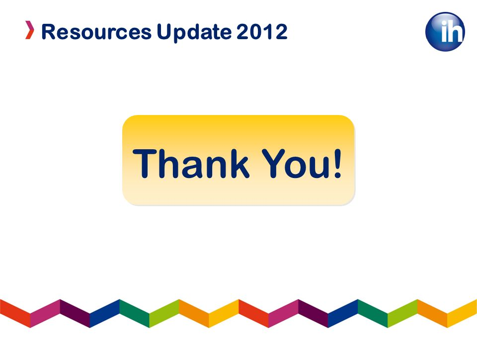 Resources Update 2012 Thank You!