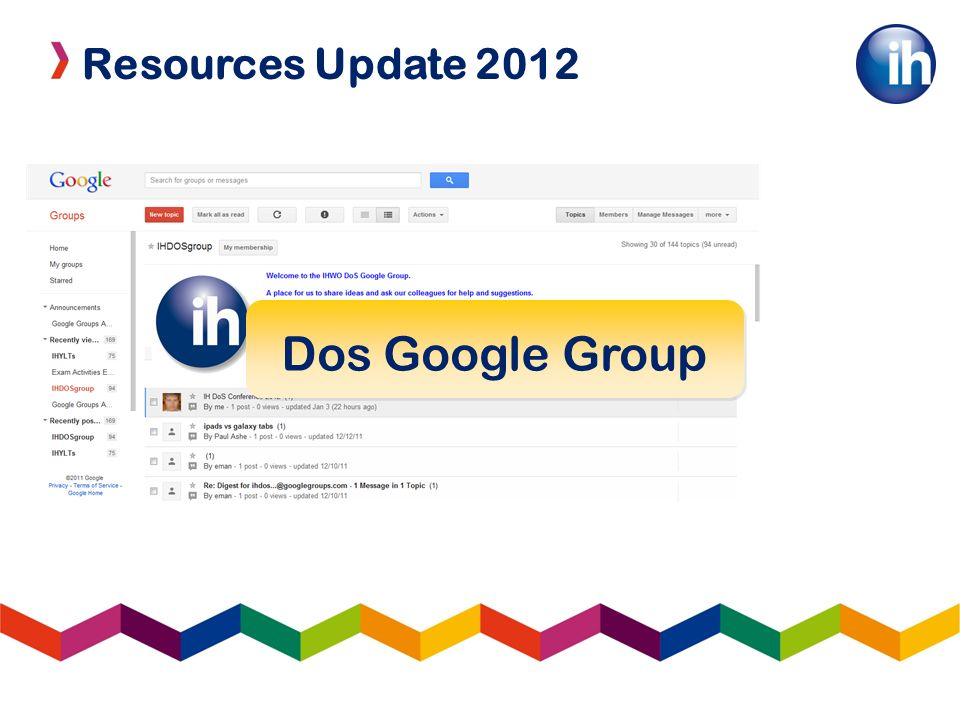 Resources Update 2012 Dos Google Group
