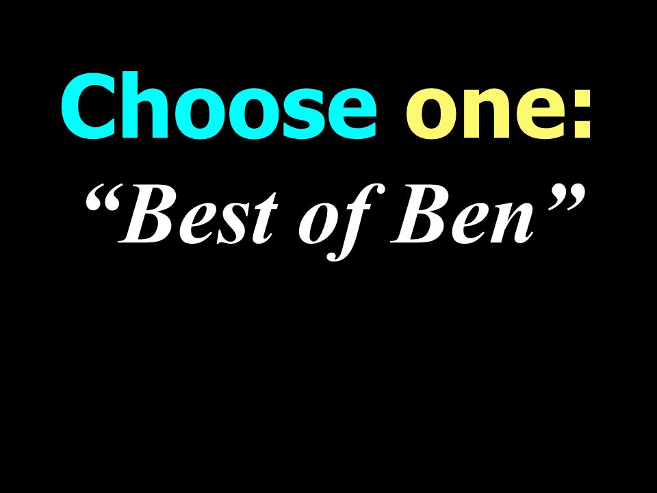 Choose one: Best of Ben WORST weekend Talk Radio Programming
