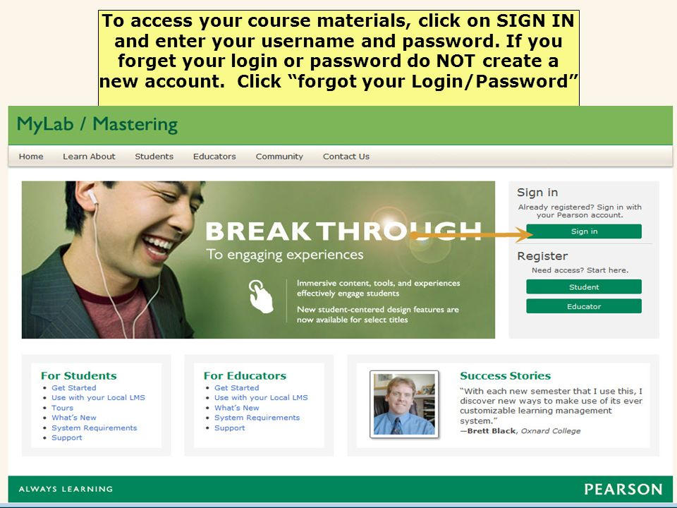Enter the Course ID provided by your instructor.