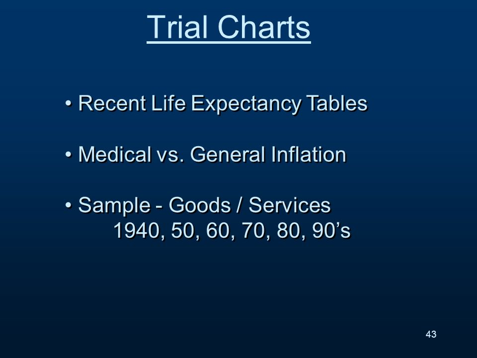 Recent Life Expectancy Tables Medical vs.