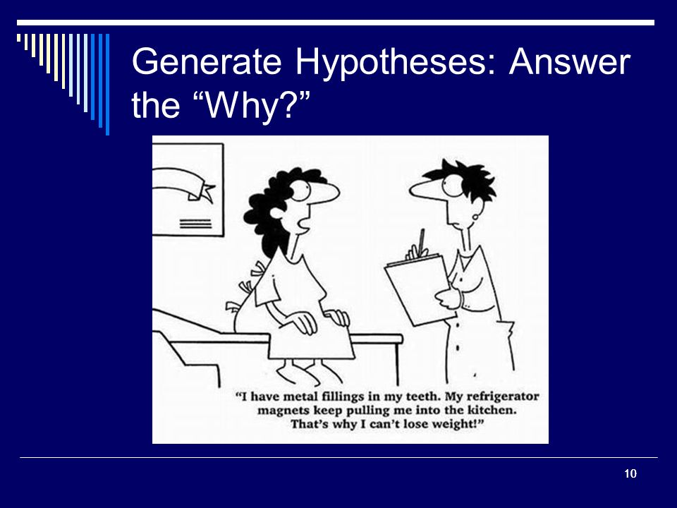 10 Generate Hypotheses: Answer the Why