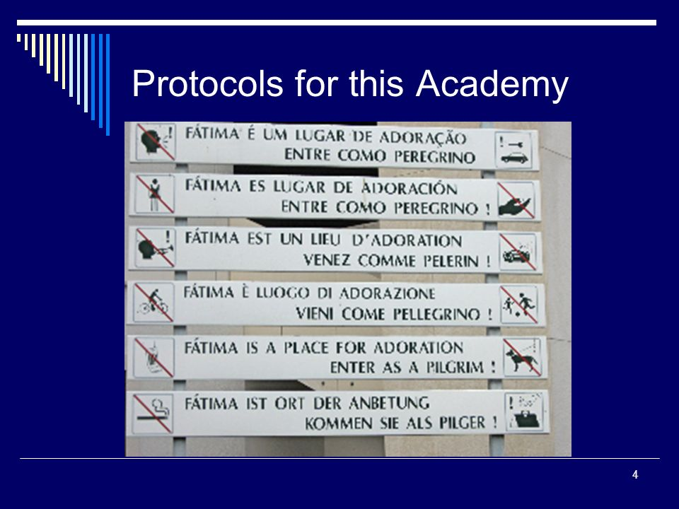 4 Protocols for this Academy