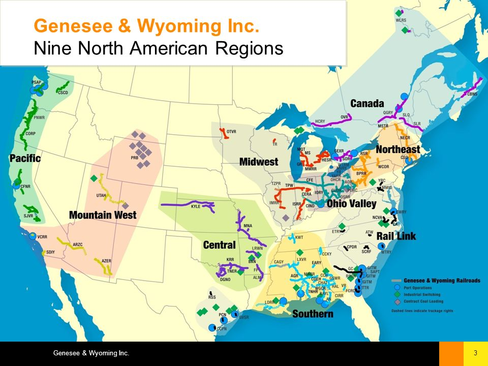 3Genesee & Wyoming Inc. Genesee & Wyoming Inc. Nine North American Regions