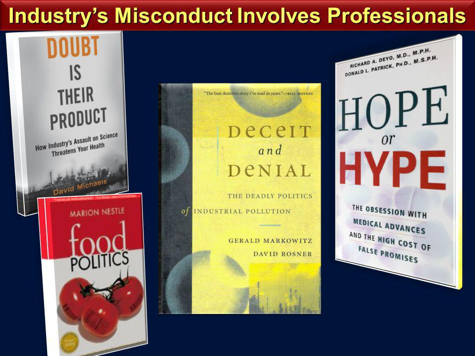 Industrys Misconduct Involves Professionals