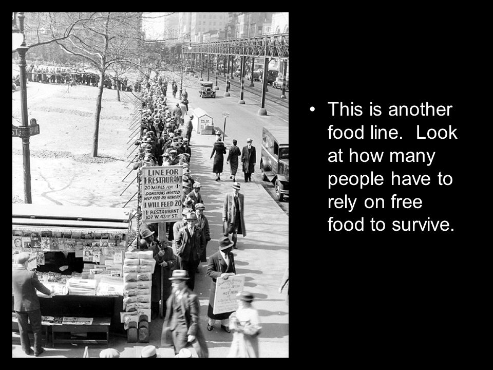 This is another food line. Look at how many people have to rely on free food to survive.