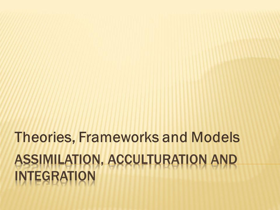 Theories, Frameworks and Models