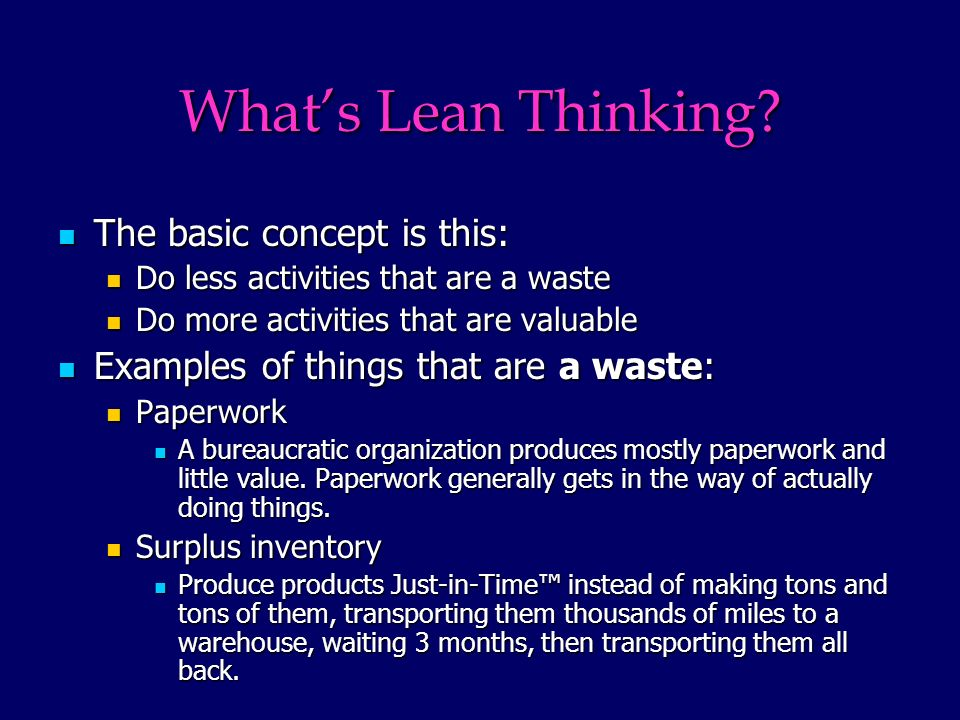 Whats Lean Thinking.