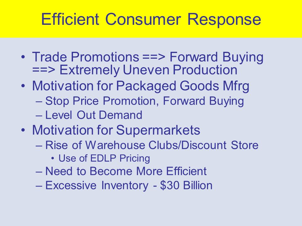 FMCG Goods Manufacturers Promotions > Advertising –consumer promotions - coupons –trade deals Why.
