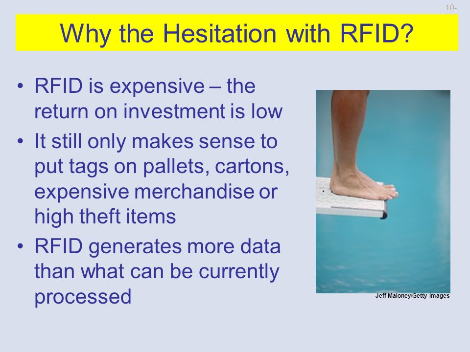 Radio Frequency Identification Radio Frequency Identification (RFID) allows an object or a person to be identified at a distance using radio waves.
