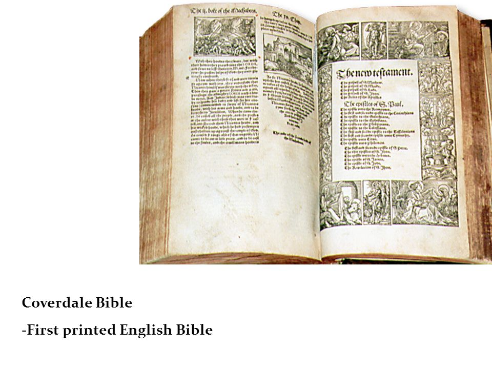 Coverdale Bible -First printed English Bible