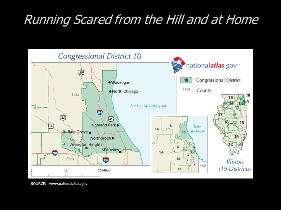 Running Scared from the Hill and at Home SOURCE: www.nationalatlas.gov