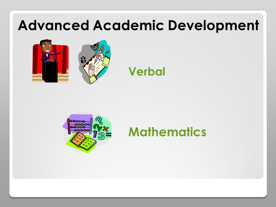 Advanced Academic Development Verbal Mathematics