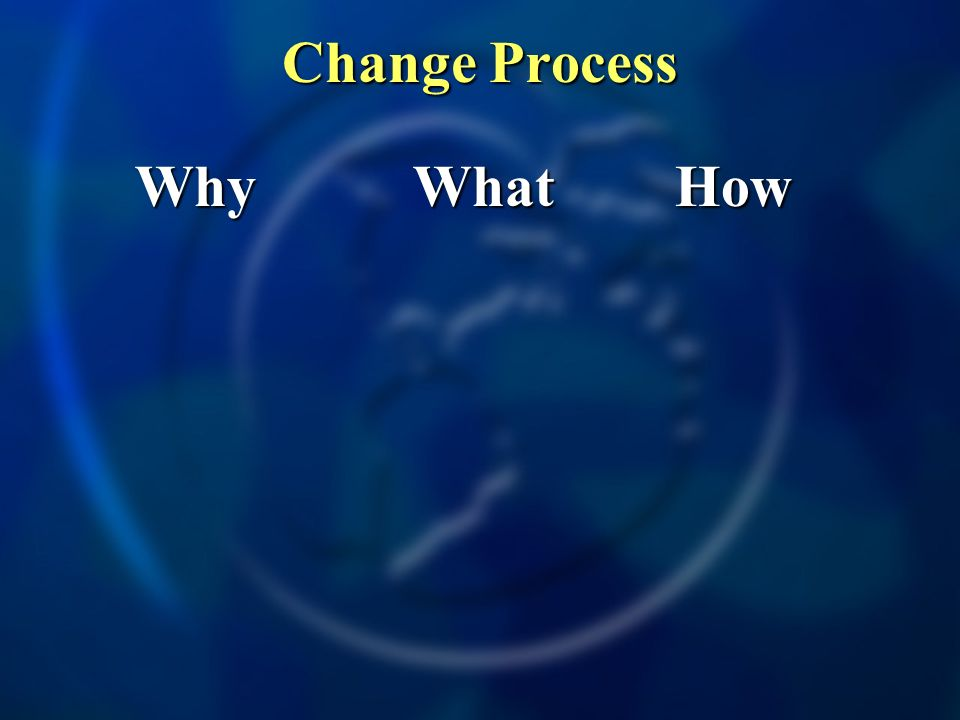 Why Why What What How How Change Process