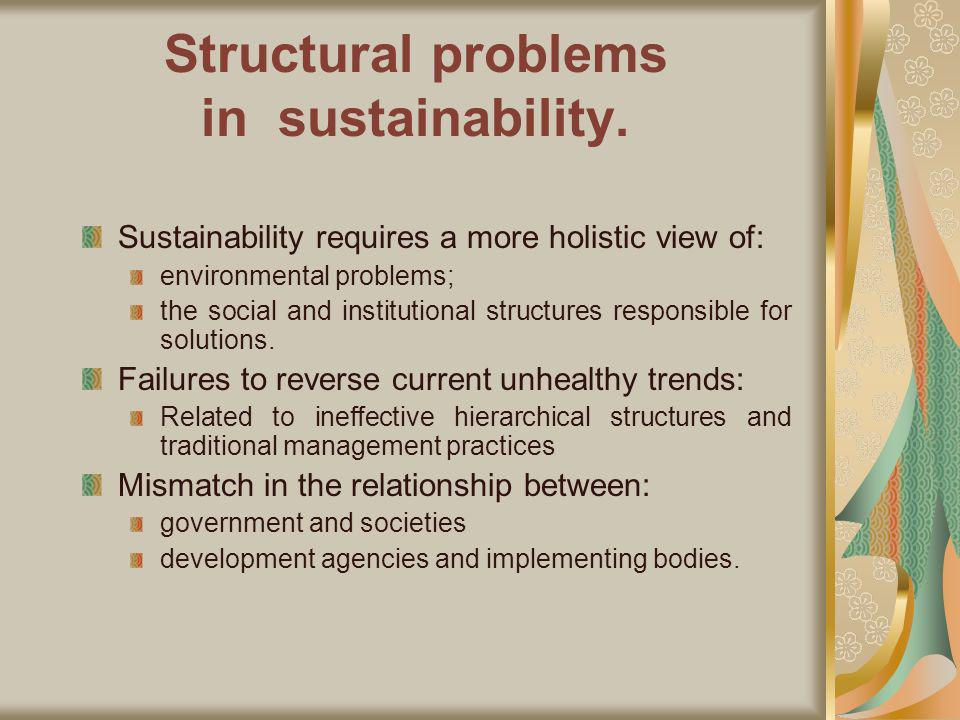 Structural problems in sustainability.