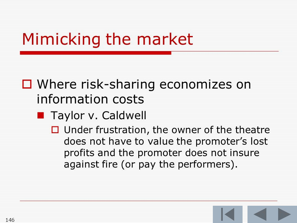 Mimicking the market Where risk-sharing economizes on information costs Taylor v.