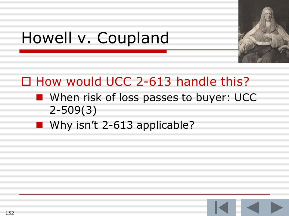Howell v. Coupland How would UCC handle this.
