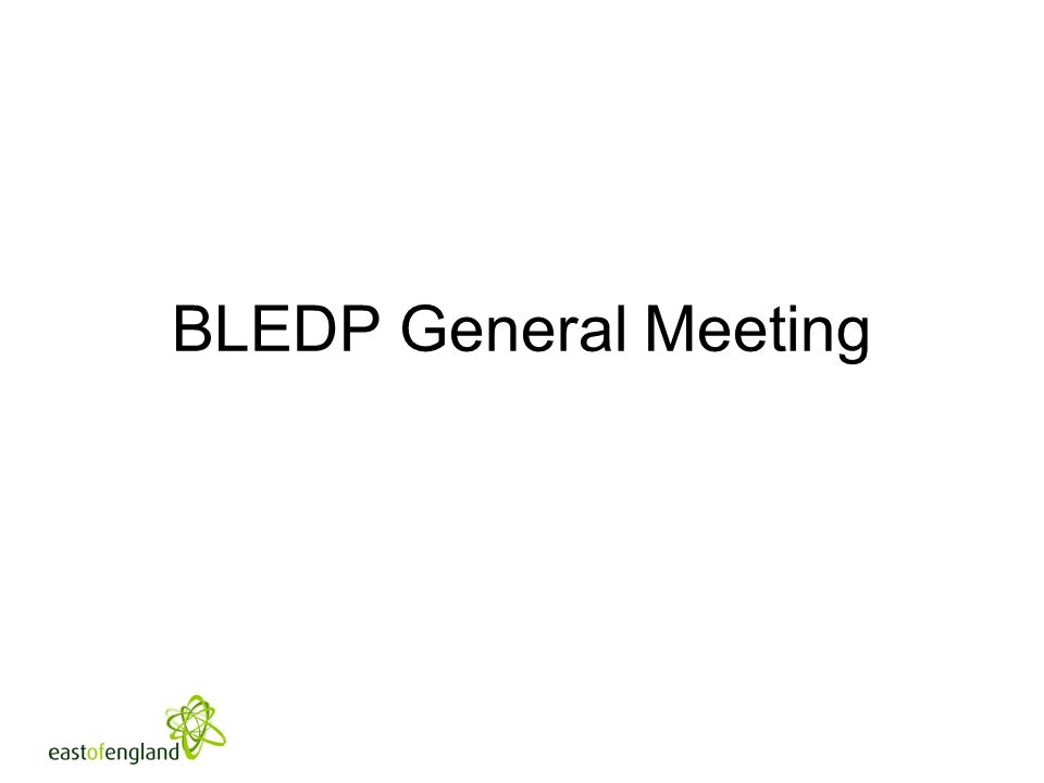 BLEDP General Meeting