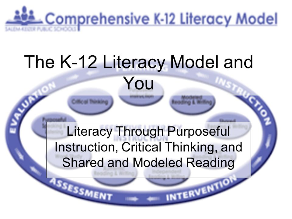The K-12 Literacy Model and You Literacy Through Purposeful Instruction, Critical Thinking, and Shared and Modeled Reading