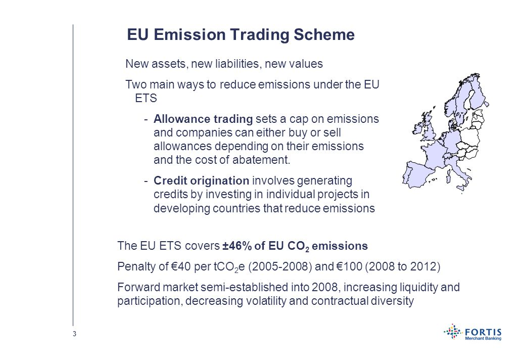 2 Presentation outline The carbon asset-liability ratio curve under the EU ETS The marginal abatement cost curve Choosing make-or-buy based on the cash products market Environmental futures as alternative to spot and forwards Developing the right trading and/or compliance strategy Conclusions, merits of trading versus cost of compliance